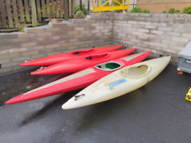 4 kayaks for sale - Fibreglass only one left