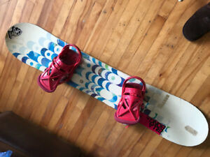 Billabong snowboard (53 inches long) and boots size 6.5.