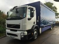 2008 58 Volvo FE 240 6x2 27ft curtainsider, low ride, full air suspension