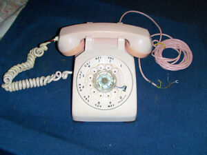 VINTAGE PINK DIAL TELEPHONE-NORTHERN ELECTRIC-1955-RARE!