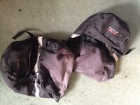 Cycle panniers, Specialized cycle helmet, tyre pump and cycle clips