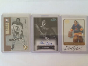 Hockey cards 3 autograph lot