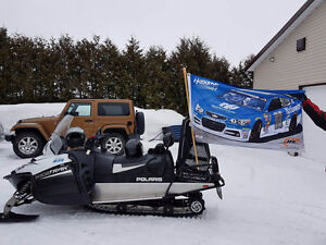 PACKAGE DEAL: 2014 Polaris Wide Trac & 2010 Wells Cargo Trailer