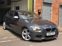 2012/62 BMW 120D M SPORT 184BHP BLUEPERFORMANCE RED LEATHER+PRO SAT/NAV