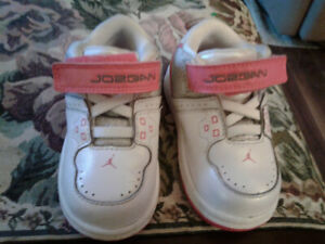 Toddler girls leather Nike Jordan shoes. Size 5.5.