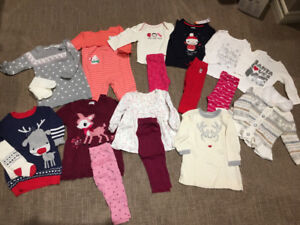 6 - 12 month Lot of holiday outfits