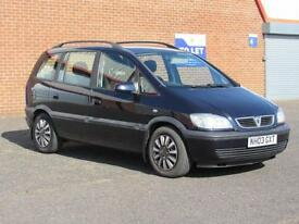 2003/03 Vauxhall Zafira 1.6l petrol, 12 months mot, only 82000 miles, 7 seater