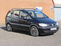 2003/03 Vauxhall Zafira 1.6l petrol, 12 months mot, only 82000 miles, 7 seater