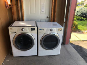 "LG 27"" White Front Load Washer And Dryer For Sale"