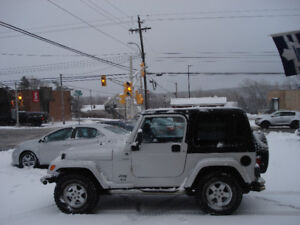 2005 JEEP TJ 4X4 6YL,AUTO, 126,000KMS ONE OWNER