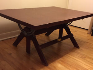 Unique drafting table/coffee table