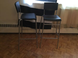 3 ikea stig chairs bar height for sale