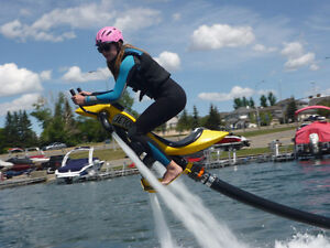 Jetpack with jetski Flybike or flyboard