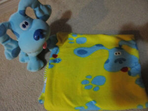 Blues Clues plush and blanket