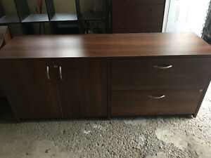 Large office desk and credenza