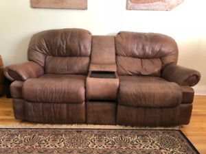 Italian Leather Arm Chairs and Couch (Recliner-set)