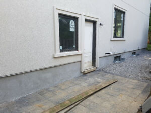 Parging and foundation repairs