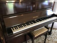 Challen piano fully working original stool key stand