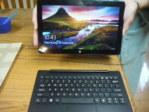 "11.6"" Insignia tablet with detachable keyboard.Windows 10 32GB"