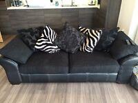 2 seater sofa and snuggler/round sofa