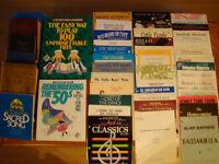 Livres de musique et musique en feuilles à vendre
