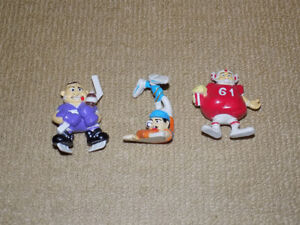 3 VINTAGE COMICAL SPORTS PVC FIGURES, NEAR MINT
