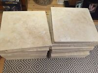 45, 40x40 Travertine stone tiles in natural
