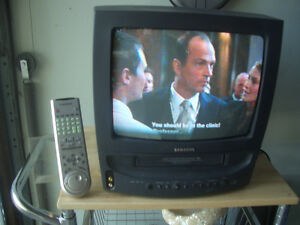 Samsung portable color tv and VHS combination