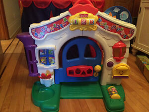 Fisher price leaning home