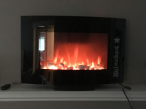 Brand New Heineken Fire Place with heating element and remote