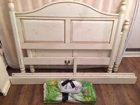 Wooden double bed frame only