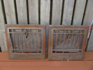 Two antique vent covers