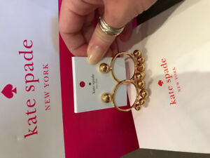 Kate Spade gold hoops earrings - brand new with tag