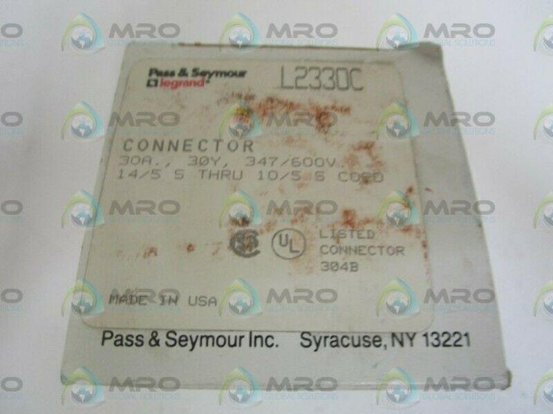 PASS & SEYMOUR LEGRAND L2330C CONNECTOR *NEW IN BOX*