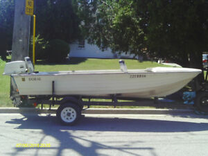 Excellent Condition 14 Ft Doral with 18 hp Seahorse and trailer.