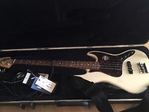 American Standard Jazz Bass with Fender Bronco 40 Amp
