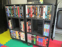 VHS and stands