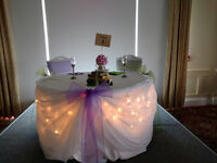 Wedding Decor, Linens, and Flowers