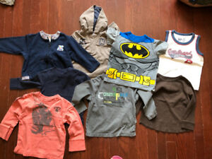 Bundle of 8 baby tops for ages 18 months to 2 years old