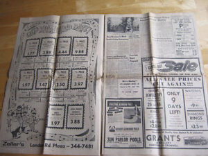 Heading to the Moon. 1969 NEWSPAPER. LAST CHANCE!! Cambridge Kitchener Area image 4