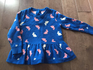 Baby girl bunny sweater - perfect for Easter
