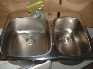 Stainless steel sink (1 ½) by Wessan