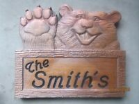 Custom Cedar Cottage Signs and other Wood Products