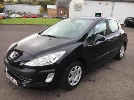 0909 Peugeot 308 1.6HDi ( 90bhp ) S Black 5 Door 76671mls £30.00 Road Tax