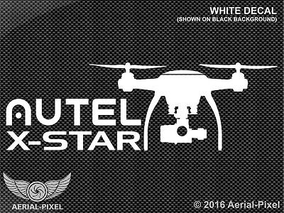 Autel X-Star Window or Case Decal Sticker for UAV UAS Drone