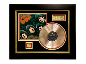 LIMITED EDITION ETCHED GOLD LP 'THE BEATLES - RUBBER SOUL'