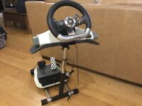 X Box 360 wireless steering wheel and Wheelstand Pro Stand