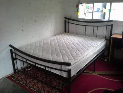 Queen Bed Frame & Matress