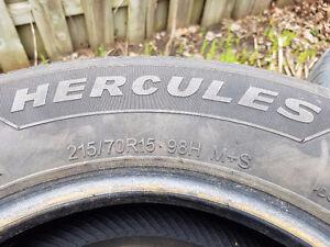4 All Season Hercules tires 215 70 15
