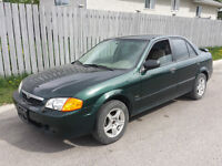 2002 Mazda Protege Great Starter Car. Engine clutch are good
